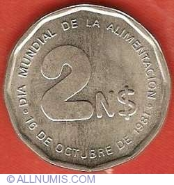 Image #2 of 2 Nuevos Pesos 1981