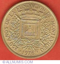 Imaginea #1 a 5 Nuevos Pesos 1976 - Aniversarea a 250 de ani de la fondarea Montevideo