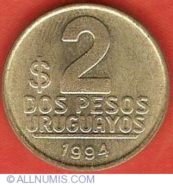 Image #2 of 2 Pesos Uruguayos 1994