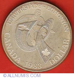 Image #2 of 1 Dollar 1983 - Edmonton Universiade Games