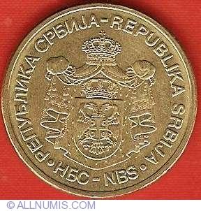 1-20 dinara 2007 UNC Serbia set of 5 coins