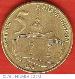 Imaginea #2 a 5 Dinari 2005