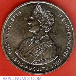 Image #2 of 50 Pence 1980 80th anniversary of Queen Mother