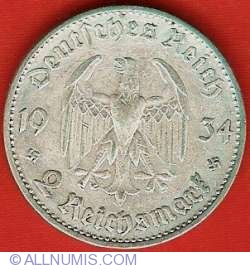 Image #1 of 2 Reichsmark 1934 A