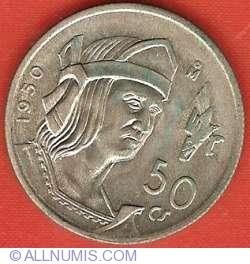 Image #2 of 50 Centavos 1950