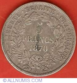 Image #2 of 5 Francs 1870 A