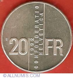 Image #2 of 20 Francs 1992 - Gertrud Kurz