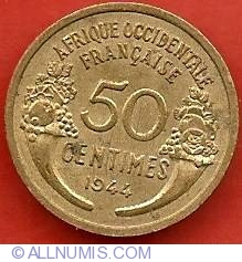 Image #2 of 50 Centimes 1944