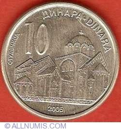 Imaginea #2 a 10 Dinari 2005