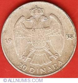 Imaginea #2 a 20 Dinara 1938
