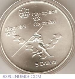 Image #2 of 5 Dollars 1975 - Montreal Olympics - Javelin