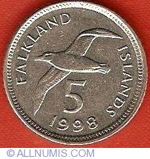 Image #1 of 5 Pence 1998