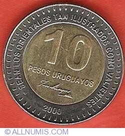 Image #2 of 10 Pesos Uruguayos 2000