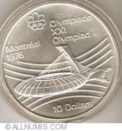 Image #2 of 10 Dollars 1976 - Montreal Olympics - Olympic Stadium