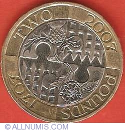 2 Pounds 2007 - 300th Anniversary of the Act of Union of England and Scotland