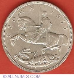 Image #1 of 1 Crown 1935 - Jubileul de argint - Litere pe margine