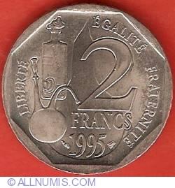 Image #1 of 2 Francs 1995 - Louis Pasteur