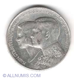 Imaginea #2 a 30 Drachmai 1964 -  Constantine II    Royal Marriage