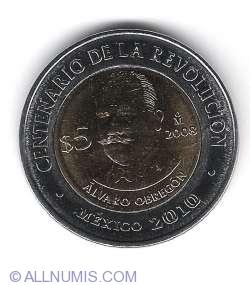 Image #1 of 5 Pesos 2008 - Alvaro Obregon