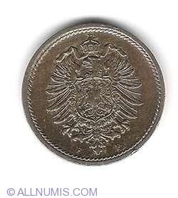 Image #2 of 5 Pfennig 1889 F