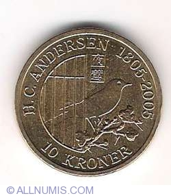 Image #2 of 10 Kroner 2007 - Hans Christian Andersen - The Nightingale
