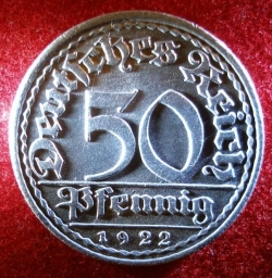 Image #1 of 50 Pfennig 1922 G
