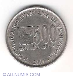 Imaginea #1 a 500 Bolivares 2004