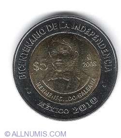 Image #1 of 5 Pesos 2008 - Hermenegildo Galeana