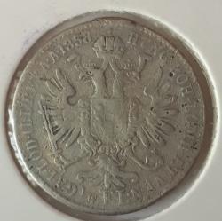 Image #1 of 1/4 Florin 1858 E