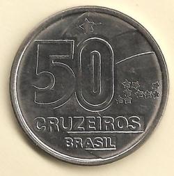 Image #2 of 50 Cruzeiros 1991
