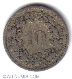 Image #2 of 10 Rappen 1885