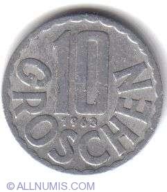 Image #2 of 10 Groschen 1963