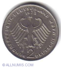 2 Mark 1973 G - Theodor Heuss