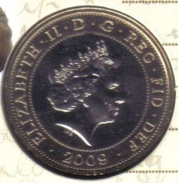 Image #2 of 2 Pounds 2009 -  250th Anniversary of Birth of Robert Burns