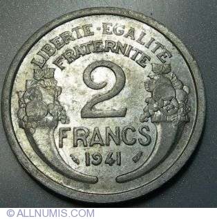 Coin Of 2 Francs 1941 From France Id 5651