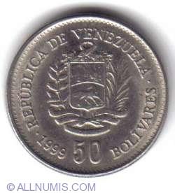 Imaginea #2 a 50 Bolivars 1999