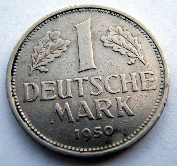 Deutsche Mark 1950 1 Mark 1950 f