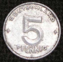 Image #1 of 5 Pfennig 1950 A