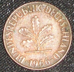 Image #2 of 1 Pfennig 1966 G