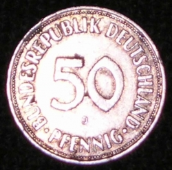 Image #1 of 50 Pfennig 1969 J