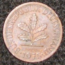 Image #2 of 1 Pfennig 1975 J