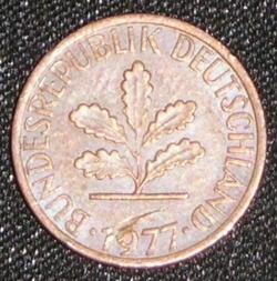 Image #2 of 1 Pfennig 1977 J