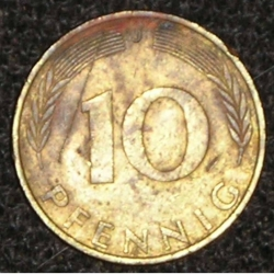 10 Pfennig 1972 J