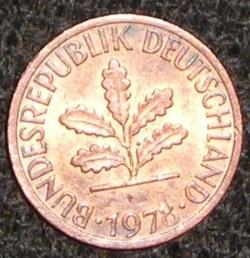 Image #2 of 1 Pfennig 1978 F