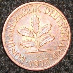 Image #2 of 1 Pfennig 1978 G