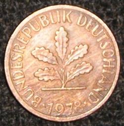 Image #2 of 1 Pfennig 1978 J