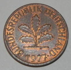 Image #2 of 2 Pfennig 1977 G