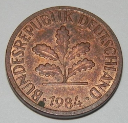 Image #2 of 1 Pfennig 1984 J