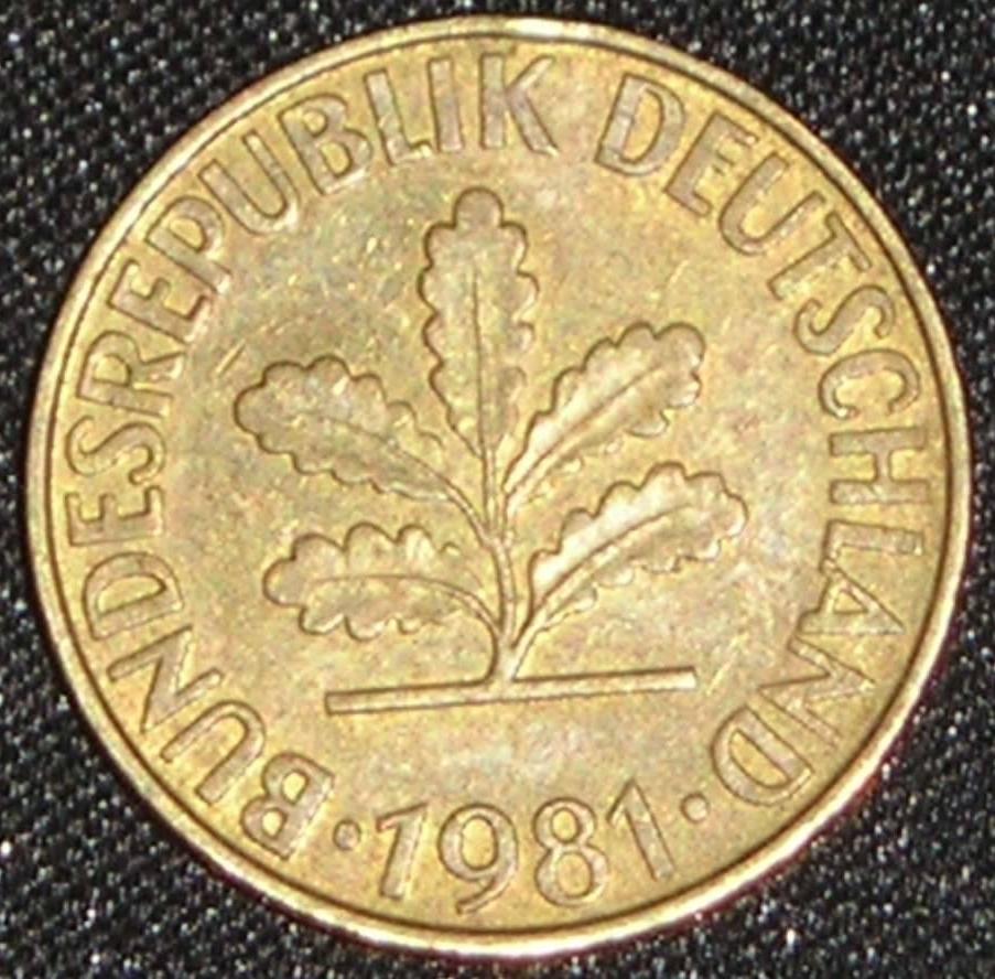 1950 f 10 pfennig coin value