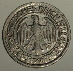 Image #2 of 50 Reichspfennig 1928 D